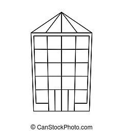 tienda, acción, venta al por menor, vector, diseño, illustration., pueblo, colección, logo.