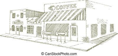 tienda, café