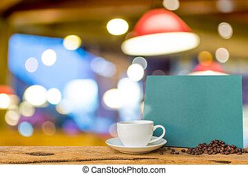 tienda, café, image., bokeh, plano de fondo, mancha