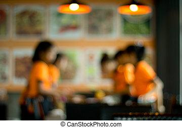 tienda, café, imagen, bokeh, plano de fondo, mancha