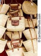 tienda, cestería, isla de ibiza, cesta, balear