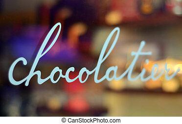 tienda, chocolate