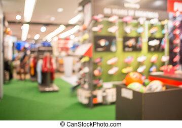 tienda, compras, resumen, confuso, fondo., alameda,...