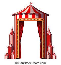 tienda de circo, vertical