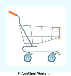tienda de comestibles, ruedas, carrito