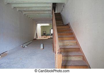tienda de venta al por menor, casa, renovación