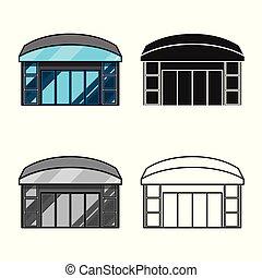 tienda de ventana, colección, acción, símbolo, web., vector, emporio, diseño, símbolo.