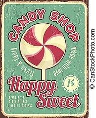 tienda, dulce, cartel, confitería, texto, dulce, dulces,...