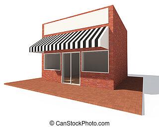 tienda, edificio