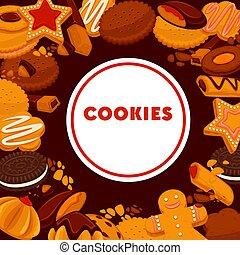 tienda, galletas, confitería, emblema, cocina, panadería,...