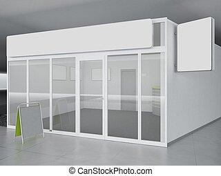 tienda, ilustración