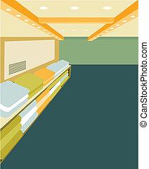 tienda, interior, moderno, diseño