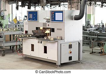 tienda, máquina, producción, durante