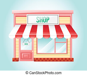 tienda, mercado, icono