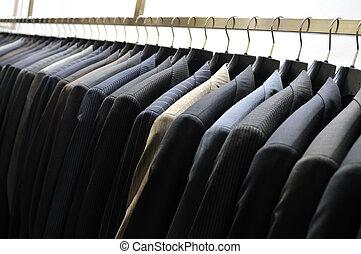 tienda, moda, hombre de negocios