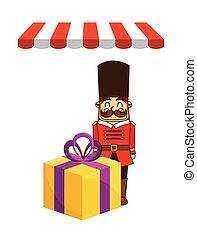 tienda, niños, diseño, juguetes
