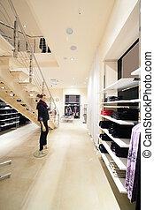 tienda, nuevo, marca, europeo, ropa