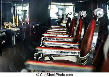 tienda, old-styled, peluquero