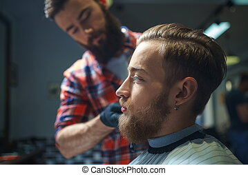 tienda, peluquero