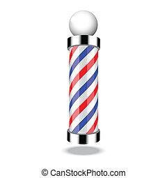 tienda, poste, peluquero, clásico