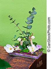 tienda, ramo, flores, moderno