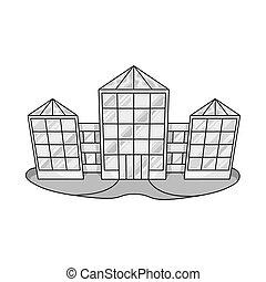 tienda, signo., símbolo, aislado, web., venta al por menor, pueblo, objeto, acción, conjunto