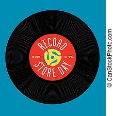 tiendade discos, día, diseño