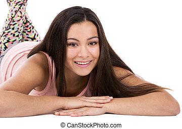 tiener meisje, ongedwongen