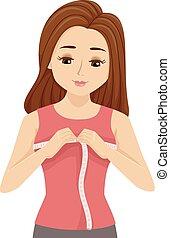 tiener meisje, veranderen, puberteit, lichamelijk