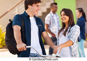 tiener, secundair onderwijs, vrienden