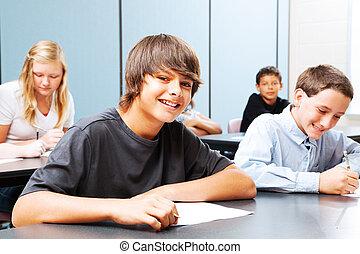 tieners, school