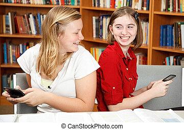 tieners, texting