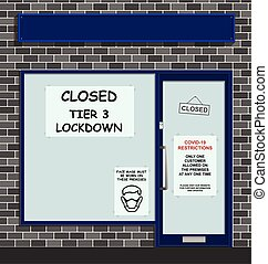 Tier 3 COVID lockdown - Small retail business closed due to ...