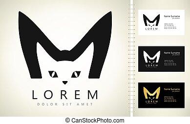 tier, katz, logo, vektor, design