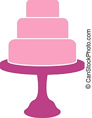 Tiered cake label isolated on white background. Design...