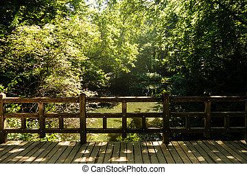 (tiergarten), Brücke,  Park, See