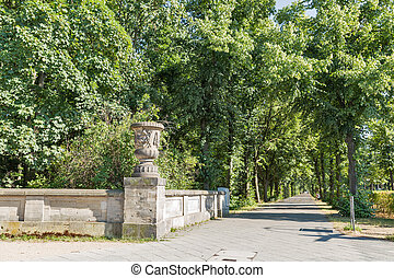 Tiergarten park alley in Berlin, Germany.
