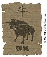 tierkreisochse, ikone