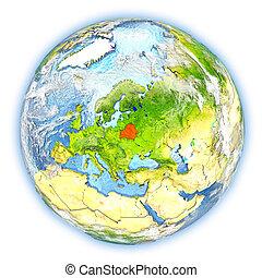 tierra, belarus, aislado