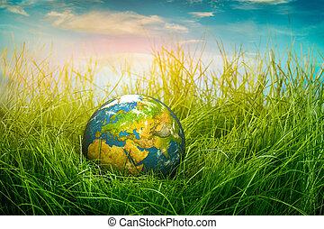 tierra, concepto, -, día