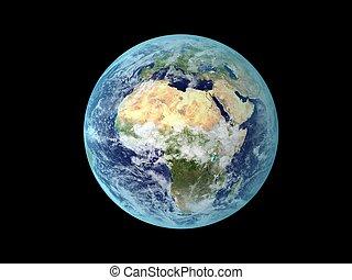 tierra, de, espacio
