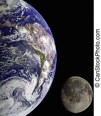 tierra, de, exterior, space.