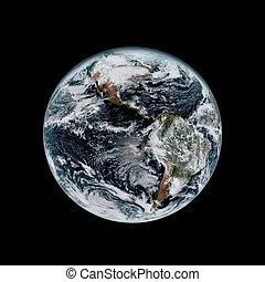 tierra de planeta, de, espacio