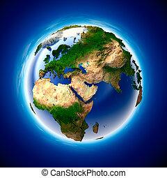 tierra de planeta, ecología, metáfora, pureza