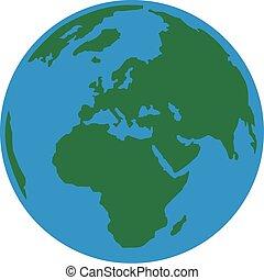 tierra de planeta, europa