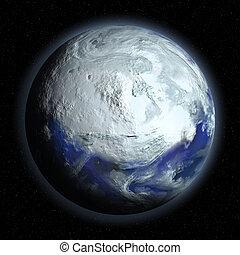 tierra de planeta, glacial, período