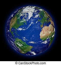 tierra de planeta, hemisferio, norteño