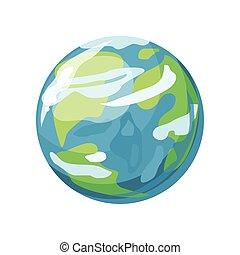 tierra de planeta, icono