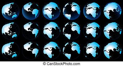 tierra de planeta, mapa
