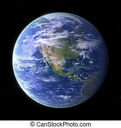 tierra de planeta, -, negro